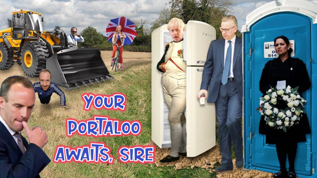 Your Portaloo awaits sire