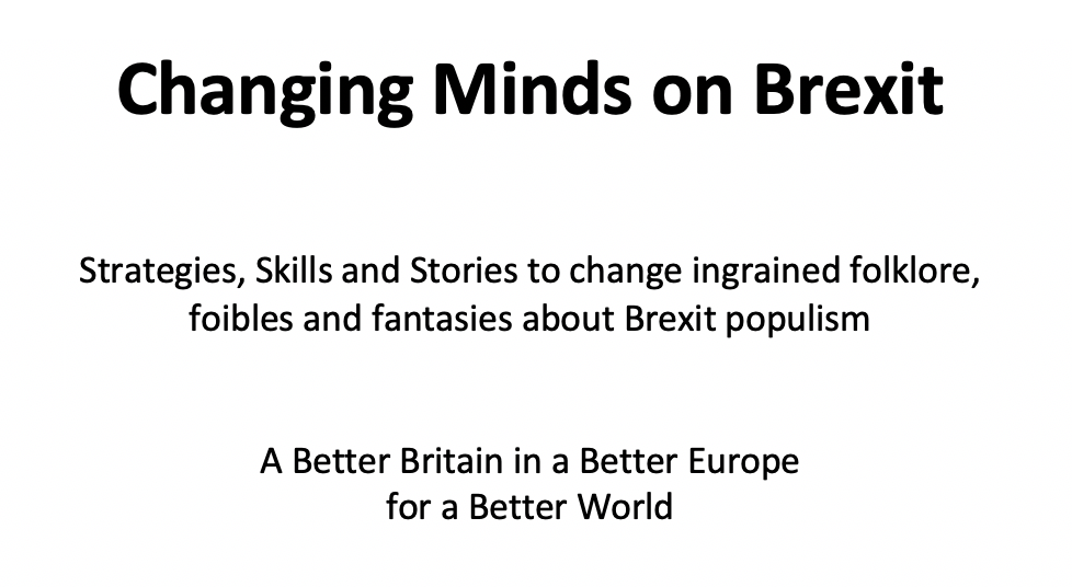 Changing Minds on Brexit