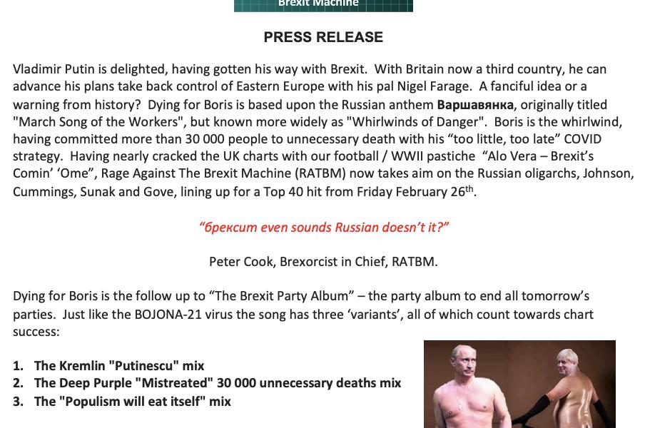 Dying for Boris