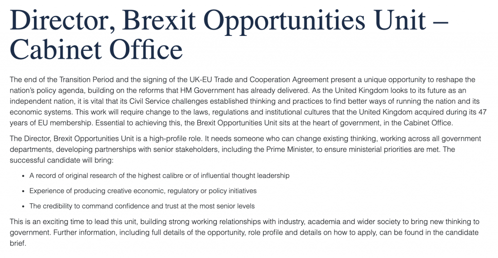 Brexit opportunities